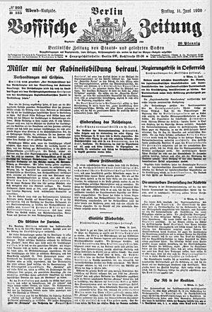 Vossische Zeitung on Jun 11, 1920