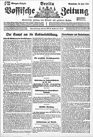 Vossische Zeitung vom 12.06.1920