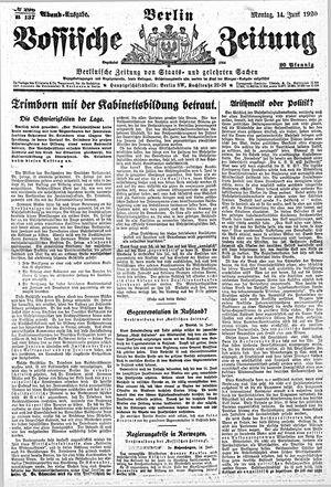 Vossische Zeitung vom 14.06.1920