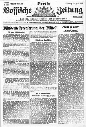Vossische Zeitung vom 15.06.1920