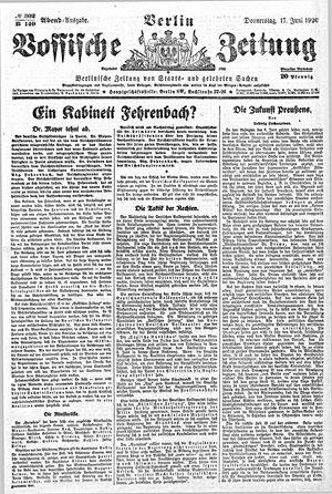 Vossische Zeitung vom 17.06.1920