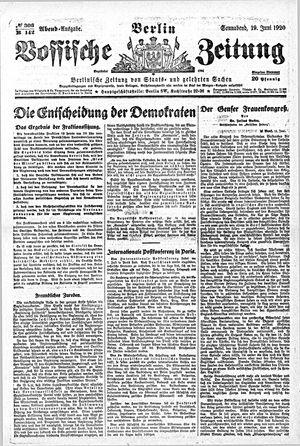 Vossische Zeitung vom 19.06.1920