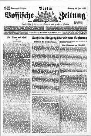 Vossische Zeitung vom 20.06.1920