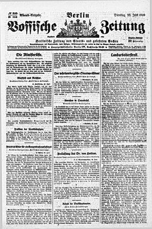 Vossische Zeitung on Jun 22, 1920