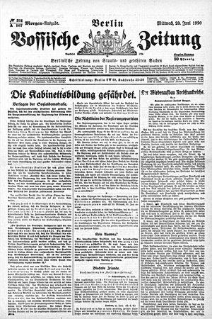 Vossische Zeitung vom 23.06.1920
