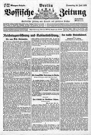 Vossische Zeitung on Jun 24, 1920