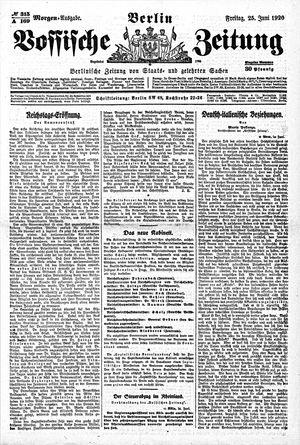 Vossische Zeitung vom 25.06.1920