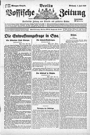 Vossische Zeitung vom 07.07.1920