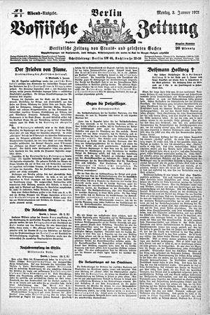 Vossische Zeitung vom 03.01.1921