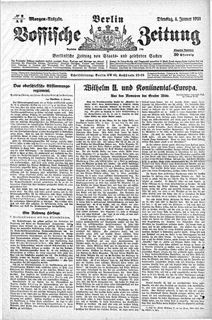 Vossische Zeitung vom 04.01.1921