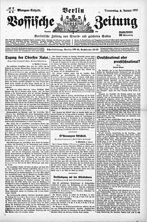 Vossische Zeitung vom 06.01.1921