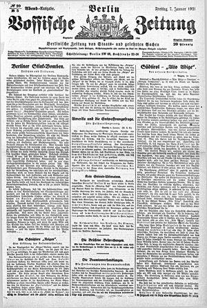 Vossische Zeitung vom 07.01.1921