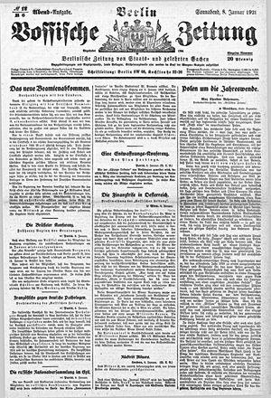 Vossische Zeitung vom 08.01.1921