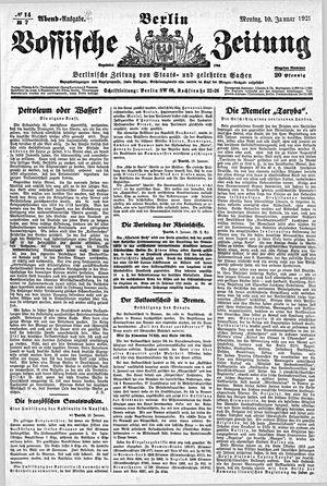 Vossische Zeitung vom 10.01.1921