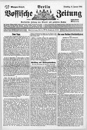 Vossische Zeitung vom 11.01.1921