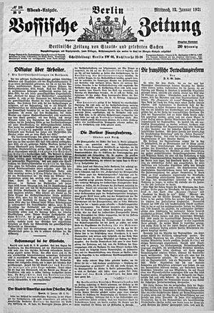 Vossische Zeitung vom 12.01.1921