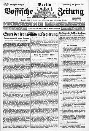 Vossische Zeitung vom 13.01.1921