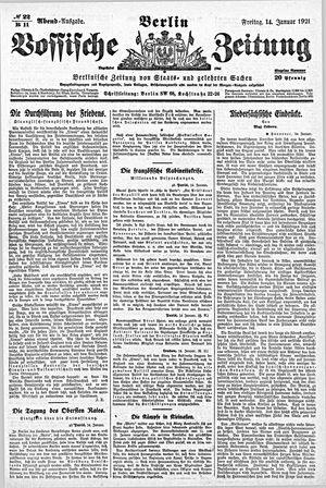 Vossische Zeitung vom 14.01.1921