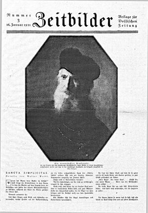 Vossische Zeitung vom 16.01.1921