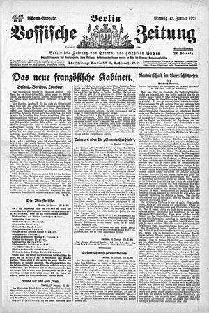 Vossische Zeitung vom 17.01.1921