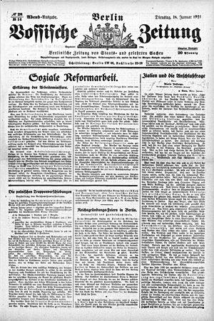 Vossische Zeitung vom 18.01.1921