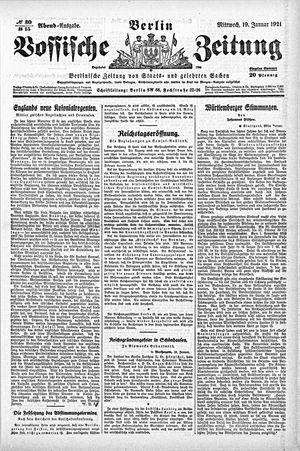 Vossische Zeitung vom 19.01.1921