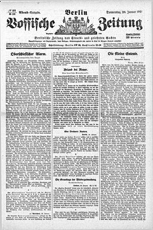 Vossische Zeitung vom 20.01.1921