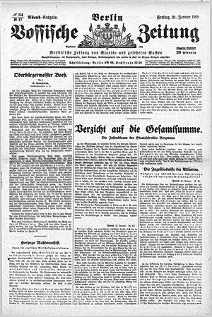 Vossische Zeitung vom 21.01.1921