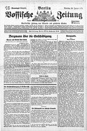 Vossische Zeitung on Jan 23, 1921