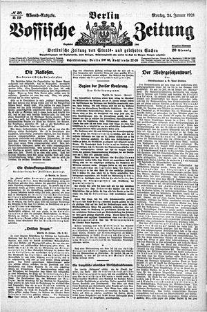 Vossische Zeitung vom 24.01.1921