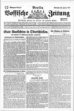 Vossische Zeitung vom 26.01.1921