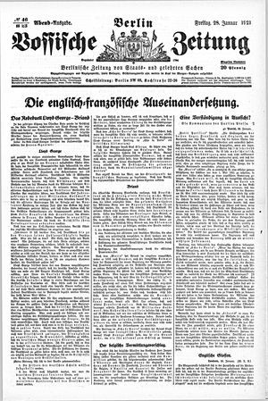 Vossische Zeitung vom 28.01.1921
