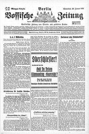 Vossische Zeitung on Jan 29, 1921