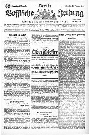 Vossische Zeitung vom 30.01.1921
