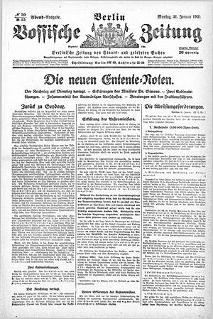 Vossische Zeitung vom 31.01.1921