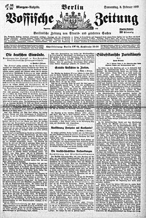 Vossische Zeitung vom 03.02.1921