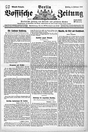 Vossische Zeitung vom 04.02.1921