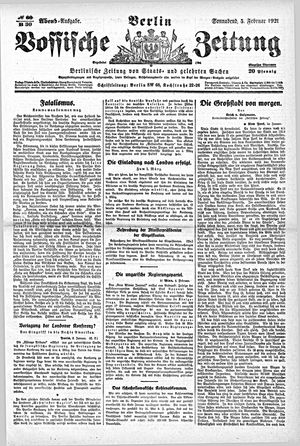 Vossische Zeitung vom 05.02.1921