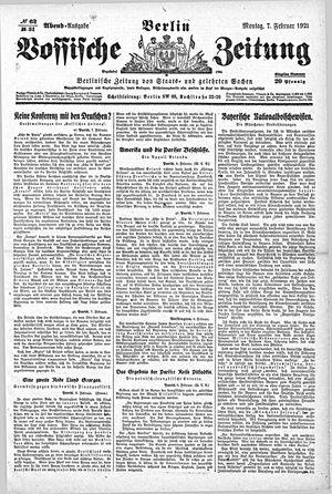 Vossische Zeitung vom 07.02.1921