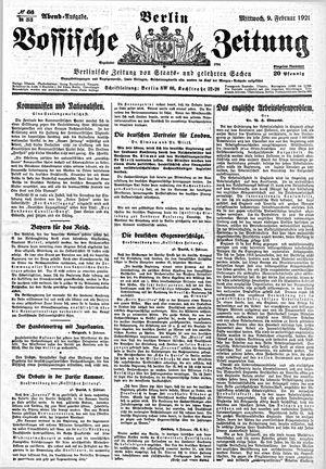 Vossische Zeitung vom 09.02.1921