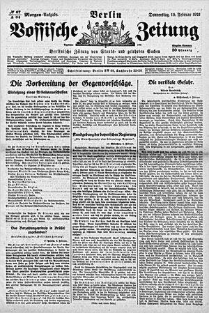 Vossische Zeitung vom 10.02.1921