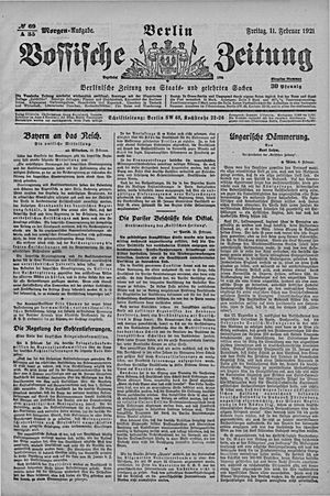 Vossische Zeitung vom 11.02.1921