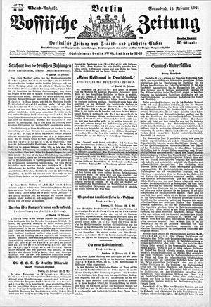 Vossische Zeitung vom 12.02.1921