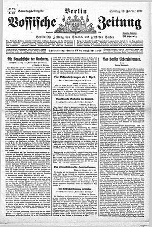 Vossische Zeitung vom 13.02.1921