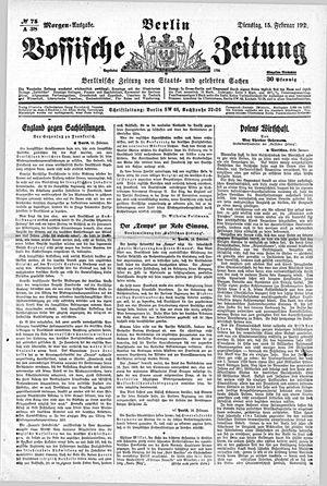Vossische Zeitung vom 15.02.1921