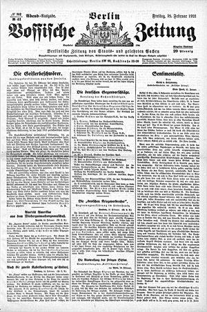 Vossische Zeitung vom 18.02.1921