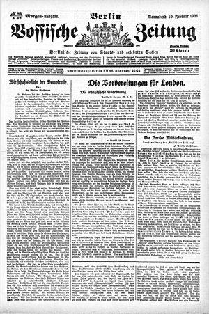Vossische Zeitung vom 19.02.1921