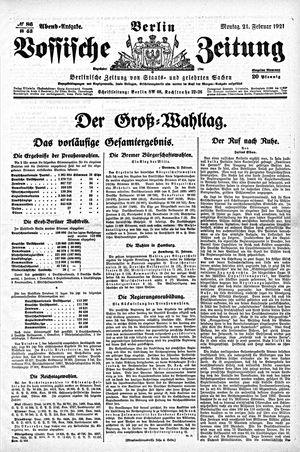 Vossische Zeitung vom 21.02.1921