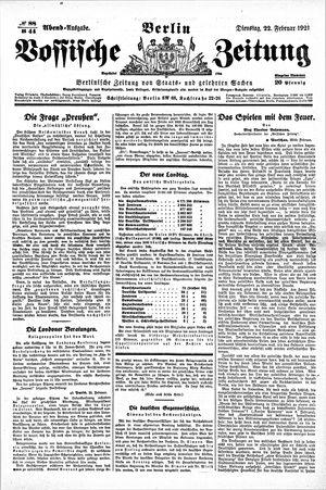 Vossische Zeitung vom 22.02.1921