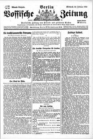 Vossische Zeitung vom 23.02.1921